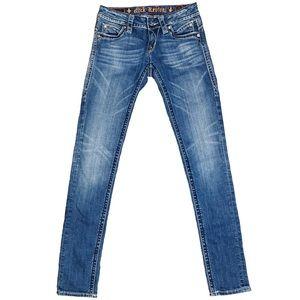 Rock Revival Jasmine Skinny Blue Jeans Size 25